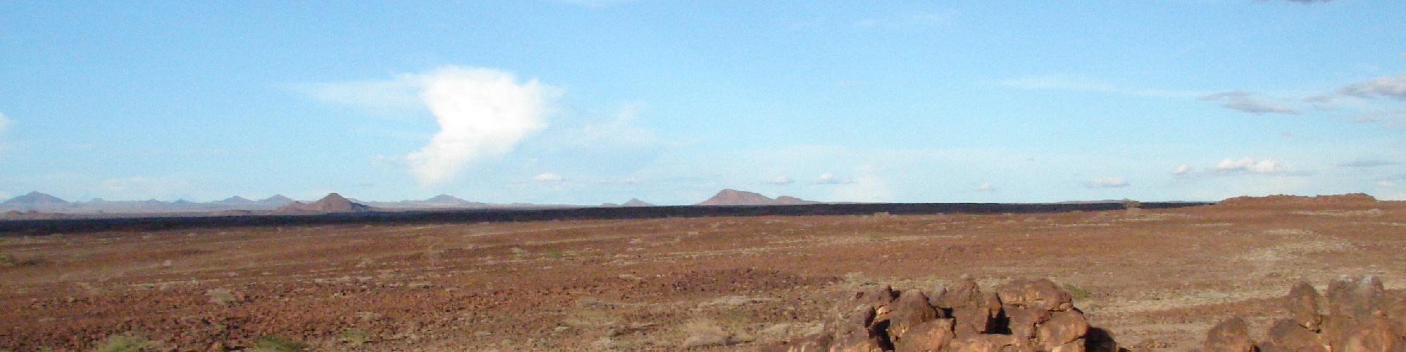 Landscape panorama ear Afkaba, Marsabit, Kenya